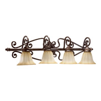 Summerset 4 Light 40 inch Toasted Sienna Vanity Light Wall Light