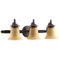 Quorum 515-3-44 Coventry 3 Light 24 inch Toasted Sienna Vanity Light Wall Light