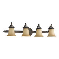 Quorum 515-4-44 Coventry 4 Light 33 inch Toasted Sienna Vanity Light Wall Light