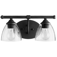 Quorum 5150-2-69 Brooks 2 Light 15 inch Noir Bath Vanity Wall Light