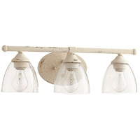 Quorum 5150-3-70 Brooks 21 inch Persian White Vanity Wall Light in 3, Clear Seeded