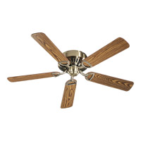 Medallion 52 inch Antique Brass with Dark Oak Blades Ceiling Fan