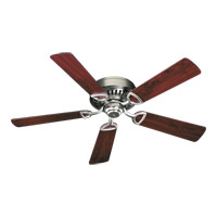 Quorum 51525-6522 Medallion 52 inch Satin Nickel with Reversible Dark Oak and Rosewood Blades Ceiling Fan