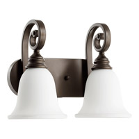 Quorum 5154-2-186 Bryant 2 Light 15 inch Oiled Bronze Vanity Wall Light