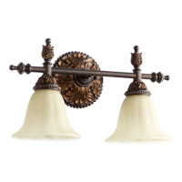 Quorum 5157-2-44 Rio Salado 2 Light 18 inch Toasted Sienna With Mystic Silver Vanity Light Wall Light