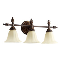 Quorum 5157-3-44 Rio Salado 3 Light 24 inch Toasted Sienna With Mystic Silver Vanity Light Wall Light