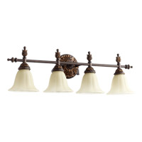Quorum 5157-4-44 Rio Salado 4 Light 32 inch Toasted Sienna With Mystic Silver Vanity Light Wall Light