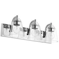 Quorum 518-3-14 Signature 3 Light 22 inch Chrome Bath Vanity Wall Light