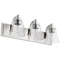 Quorum 518-3-65 Signature 3 Light 22 inch Satin Nickel Bath Vanity Wall Light