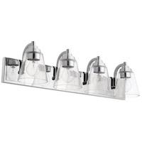 Quorum 518-4-14 Signature 4 Light 30 inch Chrome Bath Vanity Wall Light