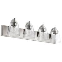 Quorum 518-4-65 Signature 4 Light 30 inch Satin Nickel Bath Vanity Wall Light