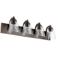 Quorum 518-4-86 Fort Worth 4 Light 30 inch Oiled Bronze Bath Vanity Wall Light