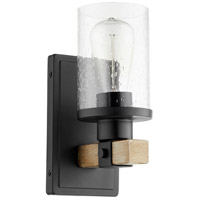 Quorum 5189-1-69 Alpine 1 Light 5 inch Noir with Driftwood Wall Sconce Wall Light