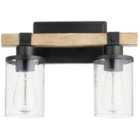Quorum 5189-2-69 Alpine 2 Light 14 inch Noir with Driftwood Vanity Light Wall Light