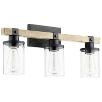 Quorum 5189-3-69 Alpine 3 Light 23 inch Noir with Driftwood Vanity Light Wall Light