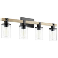 Quorum 5189-4-69 Alpine 4 Light 33 inch Noir with Driftwood Vanity Light Wall Light