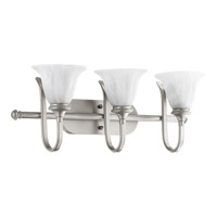 Quorum 5194-3-64 Randolph 3 Light 27 inch Classic Nickel Vanity Light Wall Light