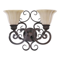 Coronado 2 Light 18 inch Gilded Bronze Wall Sconce Wall Light