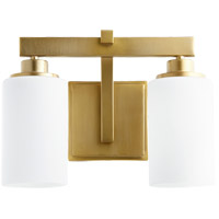 Lancaster 2 Light 13 inch Aged Brass Vanity Light Wall Light