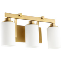 Lancaster 3 Light 20 inch Aged Brass Vanity Light Wall Light