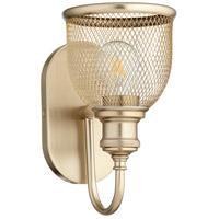 Quorum 5212-1-80 Omni 1 Light 6 inch Aged Brass Wall Sconce Wall Light