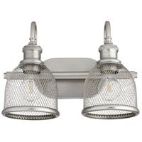 Quorum 5212-2-65 Omni 2 Light 15 inch Satin Nickel Vanity Light Wall Light