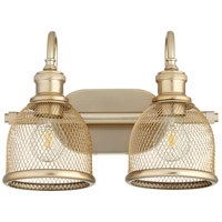 Quorum 5212-2-80 Omni 2 Light 15 inch Aged Brass Vanity Light Wall Light