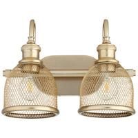 Quorum 5212-2-80 Omni 2 Light 15 inch Aged Brass Vanity Light Wall Light