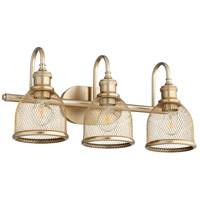 Quorum 5212-3-80 Omni 3 Light 23 inch Aged Brass Vanity Light Wall Light