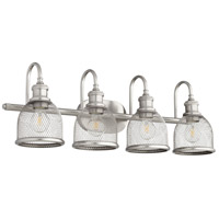 Quorum 5212-4-65 Omni 4 Light 31 inch Satin Nickel Vanity Light Wall Light