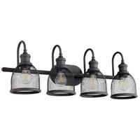 Quorum 5212-4-69 Omni 4 Light 31 inch Noir Vanity Light Wall Light