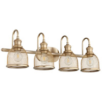 Quorum 5212-4-80 Omni 4 Light 31 inch Aged Brass Vanity Light Wall Light