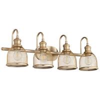 Quorum 5212-4-80 Omni 4 Light 31 inch Aged Brass Vanity Light Wall Light