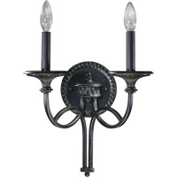 Quorum International Anatola 2 Light Wall Sconce in Old World 5219-2-95