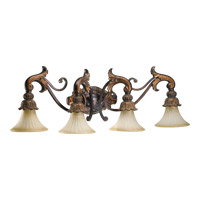 Madeleine 4 Light 39 inch Corsican Gold Vanity Light Wall Light