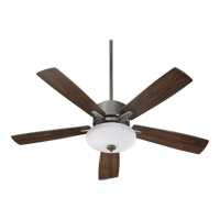 Quorum International Ashlar 3 Light Ceiling Fan in Antique Silver 52525-992