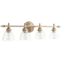 Quorum 5257-4-70 Signature 32 inch Persian White Vanity Wall Light, Clear Seeded