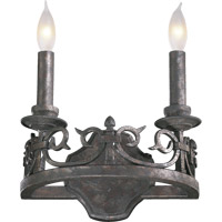 Quorum 5293-2-50 Lorenco 2 Light 9 inch Spanish Silver Wall Sconce Wall Light