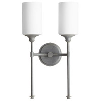 Quorum 5309-2-17 Celeste 2 Light 11 inch Zinc Wall Sconce Wall Light