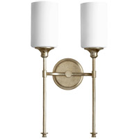 Quorum 5309-2-60 Celeste 11 inch Aged Silver Leaf Wall Mount Wall Light in 2, Satin Opal