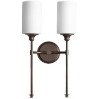 Quorum 5309-2-86 Celeste 11 inch Oiled Bronze Wall Mount Wall Light in 2 Satin Opal