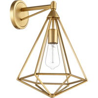 Quorum 5311-1-80 Bennett 1 Light 11 inch Aged Brass Wall Mount Wall Light