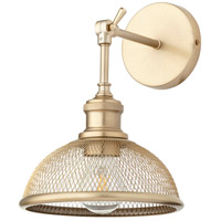 Omni 11 inch 100 watt Aged Brass Swing Arm Wall Sconce Wall Light, Small