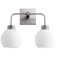 Quorum 532-2-65 Lacy 2 Light 15 inch Satin Nickel Vanity Light Wall Light