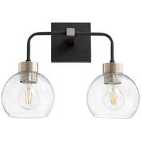 Quorum 532-2-6980 Lacy 2 Light 15 inch Noir and Aged Brass Vanity Light Wall Light