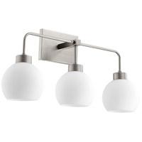 Quorum 532-3-65 Lacy 3 Light 24 inch Satin Nickel Vanity Light Wall Light