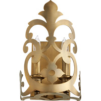 Charlton 2 Light 8 inch Aged Brass Wall Sconce Wall Light