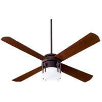 Quorum 53524-86 Mission 52 inch Oiled Bronze with Walnut Blades Ceiling Fan