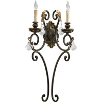 Quorum 5357-2-44 Rio Salado 2 Light 13 inch Toasted Sienna With Mystic Silver Wall Sconce Wall Light