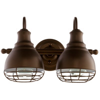 Quorum 5363-2-86 Arbor 2 Light 15 inch Oiled Bronze Vanity Light Wall Light